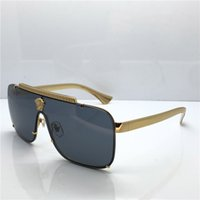 8222686b2571 Wholesale mens designer sunglasses for sale - New Luxury medusa sunglasses  oversized metal square frame mens