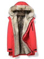 Real Fur Coat Winter Jacket Men Luxury Wolf Fur Parka Men Clothes 2019 Sleeve Warm Long Coats Plus Size erkek mont MY
