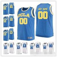 ingrosso pullover blu bambino-Custom UCLA Bruins College Basket blu chiaro bianco cucito Qualunque numero di nome # 1 Moses Brown 13 Kris Wilkes 2018 New Jerseys S-3XL