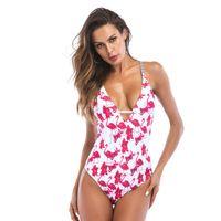 aff8b93c660 Sexy Flamingo Print Bikinis One Piece Swimwear for Women High Cut Swimsuit  2019 Female Monokini Bodysuits Lady Beach Swim Wear Bathing Suit