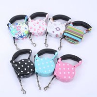 Wholesale dog collars resale online - 5M Retractable Dog Leashes lead Pets Cats Puppy Leash Lead Automatic Retractable Dog Collars Walking Lead for Small and Medium Pet RRA1864