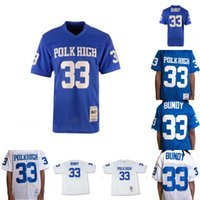 kaliteli futbol forması toptan satış-Mens Al Bundy #33 Polk High Football Jersey Married With Children 100% Stitched Womens Football Jerseys Blue White High Quality S-3XL