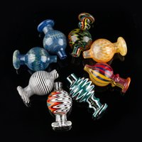 farbe perlen nail art groihandel-US Color Bubble Carb Cap Wig Wag Dome Cyclone Spinning-Carb-Kappen für Terp Perle Kugel Quarz Banger Nails Glas Bongs Bohrinseln