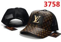 ingrosso cappelli francesi-2018 francese popolare ICON cap Hip Hop estate Berretto da baseball cappello in metallo Lettera L Caps per uomo donne Snapback Marca cap