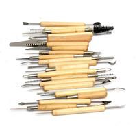 ferramentas de modelagem de argila venda por atacado-Atacado-Hot Sale New alta qualidade 22 Pçs / set Polymer Clay cerâmica cerâmica esculpir ferramentas de modelagem DIY ferramentas de artesanato