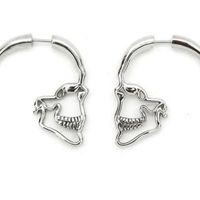 Wholesale skull studs resale online - designer jewelry skull charm earrings skeleton heart eyes stud charm earrings for women hot fashion free of shipping