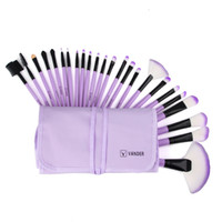 Wholesale 24pcs makeup brush set for sale - Group buy 24pcs Makeup Brushes Set Cosmetics Eyebrow Shadow Foundation Powder Lip fiber Cosmetic Brush with Bag Make Up Tools Kits GGA1898