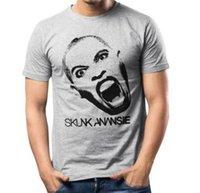 ingrosso pelle cosplay-T-shirt Skunk Anansie, T-shirt grigia, design della cantante Skin with logo fear cosplay liverpoott tshirt