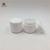 gelbe plastikgläser großhandel-20 stücke 30 ml 30g PP weiß grün rosa gelb Nachfüllbare Flaschen Kunststoff Leere Make-Up Jar Pot