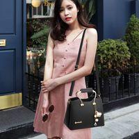 Wholesale ladies office bag resale online - Leather For Handbag Luxury Designer Brand Elegant Office Lady Large Capacity Zipper Female Shoulder Women Bags Y200328