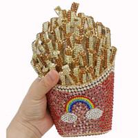 ingrosso borse da sposa strass-Borse di frizione dei sacchetti del progettista dei sacchetti del cristallo di rocca di lusso di Dgrain di modo per le borse da sera nuziali di nozze della borsa delle signore