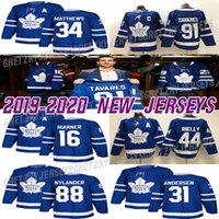 camiseta de hockey tavares al por mayor-Toronto Maple Leafs Jersey 91 Juan Tavares 34 Auston Mateo 16 Mitchell Marner 44 Morgan Rielly 88 William Nylander los jerseys del hockey