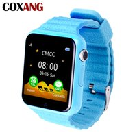 Wholesale phone location tracker online – COXANG V7 Smart Watch For Children Kids Baby LBS Location Tracker SOS SIM Dial Call Watch Phone Camera Alarm Clock Smartwatches