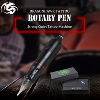 alliage d'aluminium professionnel achat en gros de-Machine de tatouage Rotary Professional Pen Moteur pour Liner Shader moteur Microblading en alliage d'aluminium Kit de machine