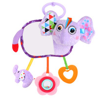 Wholesale teether hanging toys resale online - Baby Toys Stroller Car Seat Activity Infant Hanging Rattle Toys With Mirror Teether Newborn Educational Plush Toy Months Y200111