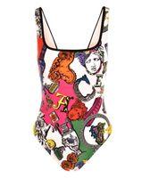 yeni bikiniler toptan satış-2019 Yeni İtalya Marka moda Kadınlar Için Mayo Bikini Seksi Çiçek Altın Mayo Bandaj Seksi Mayo Tek parça Mayolar VSC03