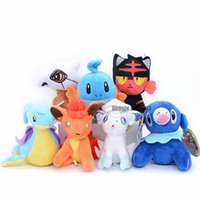 peluche lapras venda por atacado-Bolso Animais Stuffed Plush Chaveiro Boneca Pikachu Bulbasaur Venusaur Mew Eevee Lapras Dragonit Plush Doll Toy caçoa o presente