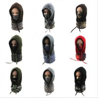 Wholesale tactical caps for sale - Group buy Winter Masks Barakra Hat Cycling Motorcycle Caps Unisex Windproof Ski Riding Hats Tactical Face Mask Bicycle Sports Scarf Head Cover C7346