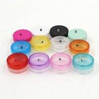 tırnak sanatası plastik kavanozlar toptan satış-3G Yuvarlak Boş Plastik Kavanoz Beyaz Cap 3ML Kozmetik Plastik Şişe Saksılar Konteyner Temizle Kavanozları İçin Yüz Kremi Nail Art Esansiyel Yağı