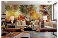 ingrosso stile asiatico art-All'ingrosso-personalizzato 3d foto di seta murale carta da parati in stile sud-est asiatico palma foglia d'arte murale sfondo carta da parati papel de parede
