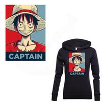 einteiliges t-shirt luffy großhandel-Beliebte Anime ONE PIECE Patches zum Aufbügeln für Kleidung DIY T-Shirt Kleidung Patches Thermal Transfer Ruffy Aufkleber