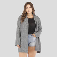 женские серые пальто оптовых-Dark Grey Fashion  Women Trench Coat Spring Full Length Loose Plus Size Parka XL-5XL Maxi Overcoat Female Clothes Top
