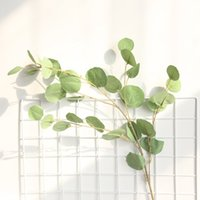 Wholesale small artificial flowering plants for sale - Group buy 1Pcs Artificial Plastic Eucalyptus Tree Branch for Christmas Wedding Decor Flower Arrangment Small Leaves Plant Faux Foliage