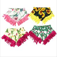 çocuklar kısa şişkinler toptan satış-Bebek Sequins Bloomer Şort Kızlar Ayçiçeği Glitter Dans Pantolon Çocuklar Butik Fırfır Şort Rahat Plaj Boksörler Parti Yaz Şort B5900