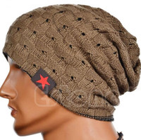 Wholesale crochet baggy hats resale online - Fashion Women Men Unisex Warm Winter Skull Knitted Hat Baggy Beanie Hip hop Cap Winter Knit warm Hat Crochet Slouchy cap