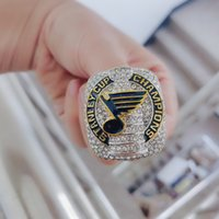 Wholesale tin plates cups for sale - Group buy 2018 St Louis Blues Stanley Cup championship rings Fan Men Gift Drop Shipping size