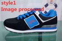 koreanische markenschuhe großhandel-2019 574 Marken-Frauen-MEN Designer Schuhe Frühlings-Frauen-Schuh-beiläufige Reisen Mens Harajuku Art Sportschuhe Studenten Koreanisch