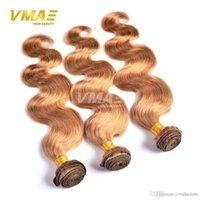 sarışın brazilian dalga saç paketleri toptan satış-Sıcak Satış Brezilyalı Vücut Dalga İnsan Saç Demetleri Bal Sarışın Bakire İnsan Saç Uzantıları Saf Renk Vücut Dalga Brezilyalı Doğal Saç