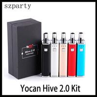kits de modificação de caixa de tensão variável venda por atacado-Yocan Hive 2.0 Kit 2 em 1 Kit Dab Vape Pen Voltage 650mAh Variável Box Mod vaporizador Kit PK Evolve Além disso,