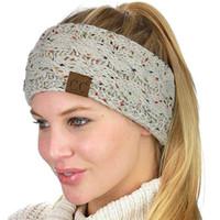 Wholesale headwrap resale online - CC Knitted Headbands Women Winter Ears Headbands Knitted Turban Headwrap Crochet Headband Hair Accessories