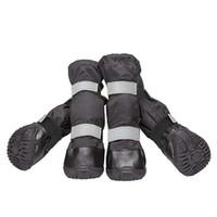 große hundeschuhe großhandel-Hundeschuhe Big Dog Schuhe Schneeschuhe Regen Stiefel Erweiterte Wasserdichte Schneeschuhe Warmer Langer Schuh Für Winter