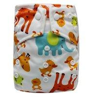 Wholesale waterproof baby cloth diapers resale online - Waterproof Baby Cloth Nappies Washable Infant Pocket Diapers Baby Cloth Diapers