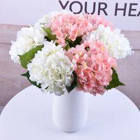 decoração ems venda por atacado-Ems livre de alta qualidade real toque de seda hortênsia big flower 19 cm / 7.5