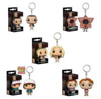 Wholesale girls puppet for sale - Group buy Funko POP Stranger Things Season Keychain toys New TV series Eleven Demogorgon PVC Model dolls Gifts toys