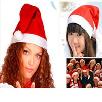 Wholesale cute cosplay characters online – ideas Christmas Cosplay Hats Thick Ultra Soft Plush Santa Claus Hat cm Cute Adults Christmas Party Cap Christmas Supplies RRA1572