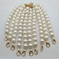 ingrosso borse a mano bianca-10pcs 16mm manico bianco perla per borsa accessori tracolla catena borsa artigianale fatto a mano