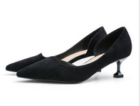 Wholesale sexy black satin high heels resale online - New Women s High Heels Pumps Sexy Bride Party Thick Heel Round Toe leather High Heel Shoes for office lady Women