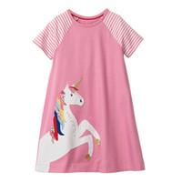 ingrosso vestito dal plaid del bambino-Kidsalon Kids Dresses for Girls Clothes 2019 Summer Party Princess Dress Toddler Girl Dress Abbigliamento casual per bambini