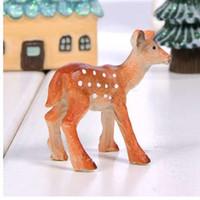 ingrosso ornamenti da giardino animale-Artificiale Mini Sika Resina Simulazione Cervi Artigianato Decorazione Simulazione Ornamenti Animali Per Home Office Garden Decorazione del partito