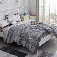 Wholesale cotton quilt coverlet resale online - iDouillet Soft Lightweight Layers Cotton Muslin Blanket Quilt Adult Bedding Coverlet Bedspread x200cm Oversized x230cm