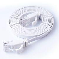 düz ağ kablosu cat6 toptan satış-CAT6 RJ45 Düz Ethernet Kablosu Bükülmüş Çift 1 m 3 m 10 m 20 m ADSL HUB Kamera Için Bilgisayar Ağ Kablosu Cat6 ATM Router ATM UTP Kablo