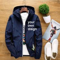 ingrosso giacca foto-2019 S-6XL IL PROPRIO Logo del marchio di design / Picture White Custom Giacche da uomo e da donna Plus Size Jacket Men Clothing Outdoor Couple