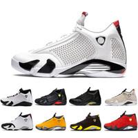 top toptası toptan satış-Jumpman 14 s Basketbol Ayakkabıları Varsity Kraliyet Kırmızı Ters Ferrar Son Shot Siyah Ayak Sepet Topu Sneaker Yüksek Kalite des ...