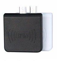 chip do leitor rfid venda por atacado-50 Conjuntos Portátil 13.56 MHz Micro USB Leitor de Cartão Android NFC RFID Só Leia Leitor de Chip ISO14443A Suporte todos os 13.56 MHz RFID IC Card / Tag DHL