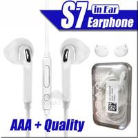 yüksek sesli kulaklıklar toptan satış-S7 S6 kenar Galaxy Kulaklık Için kulaklık Yüksek Kalite Kulak Kulaklık i5 6 S Için Mic Ses Kontrolü Ile Moblie Telefon