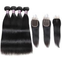 Wholesale auburn hair weave for sale - Group buy Brazilian Deep Wave Human Hair Bundles With Closure Peruvian Hair Bundles Malaysian Body Wave Deep Loose Hair Extensions